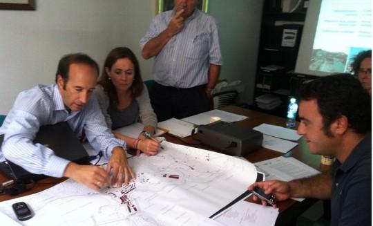 Equipo TRION trabajando con Ayuntamiento Getaria