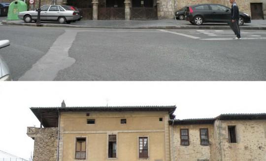 Rehabilitación fachada vivienda en Orduña y peatonalización