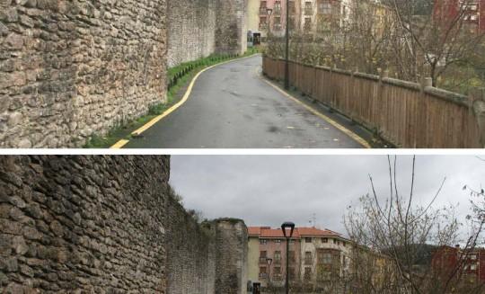 Recuperación muralla y paseo de borde Orduña