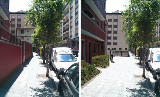 Ampliación de la acera en calle Sexto Centenario