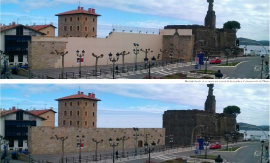 Recuperación muralla y monumento Elkano