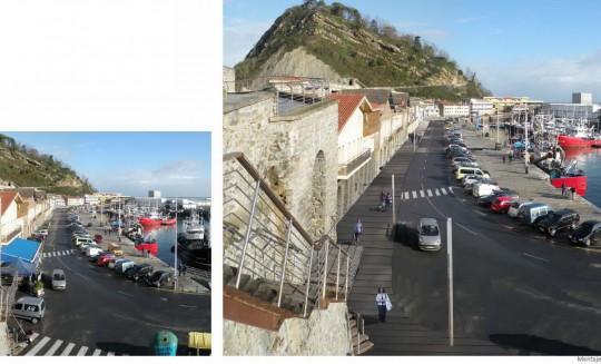 Reordenación tráfico y peatones en el puerto de Getaria