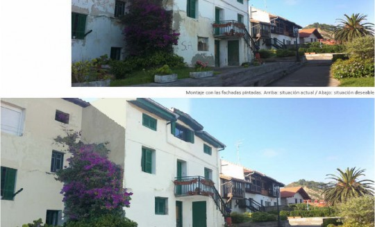 Rehabilitación fachada vivienda en Getaria