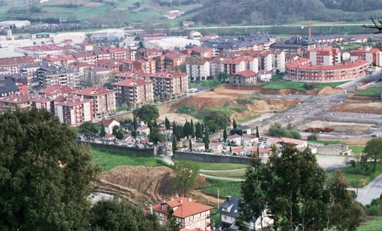 El nuevo barrio de Santa Lucía en Gernika en construcción